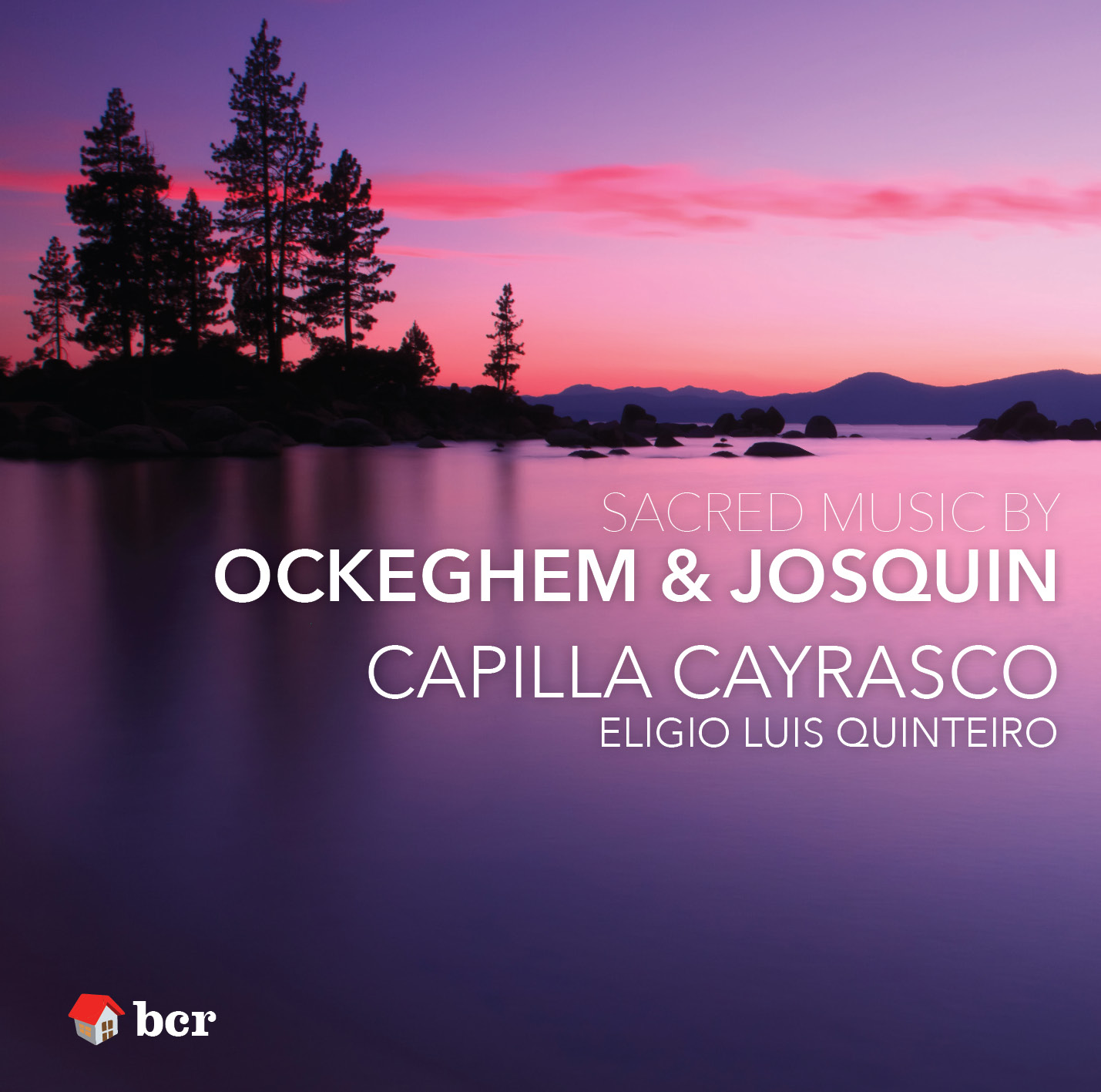 Cover image of Capilla Cayrasco CD, showing lake and sunset